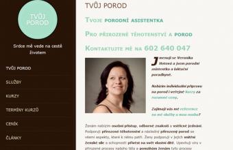 Maly chytrý web pro tvujporod.cz