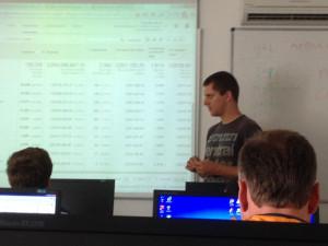 Honza Tichý na školení Google Analytics