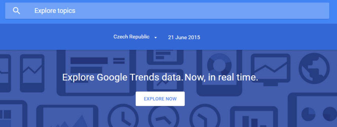 Google Trends v reálném čase